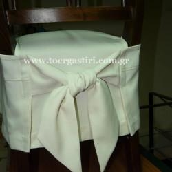 Κοντό κάλυμμα καρέκλας φούστα, με δέσιμο κόμπο στο πίσω μέρος.