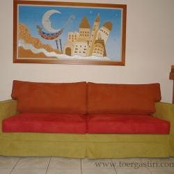 Τρίχρωμο κάλυμμα καναπέ.
