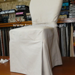 Απλό  κάλυμμα καρέκλας σε διαχρονικό λευκό!
