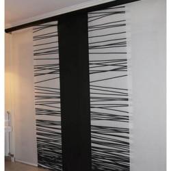 panel black-white