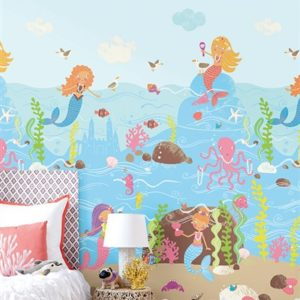 wallquest-pelikan-prints-pajama-party-lost-mermaids-at-play-all-over