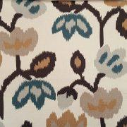 ύφασμα καραβόπανο εμπριμέ, λουλούδια Ikat
