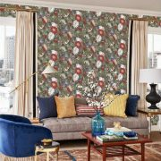 Wallpaper Tapetsaria Vincent Poppies CY1518-1