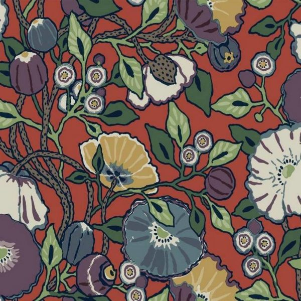 Wallpaper Tapetsaria Vincent Poppies CY1520